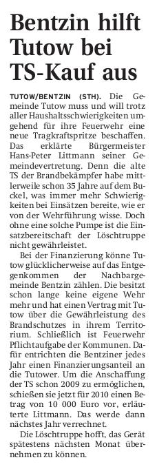 17.03.2009 - Demminer Zeitung Seite 16