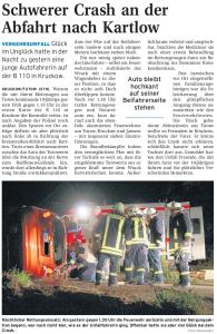 11.07.2009 - Nordkurier Seite 17