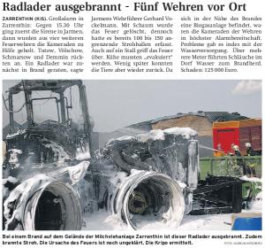 10.08.2009 - Nordkurier Seite 11