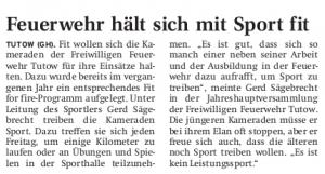 01.03.2011 Nordkurier – Demminer Zeitung Seite 14