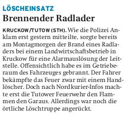 25.05.2011 Nordkurier – Demminer Zeitung Seite 13