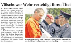 30.05.2011 Nordkurier – Demminer Zeitung Seite 9